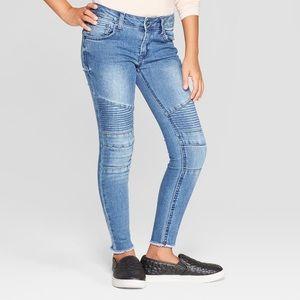 art class / girls moto blue jeans